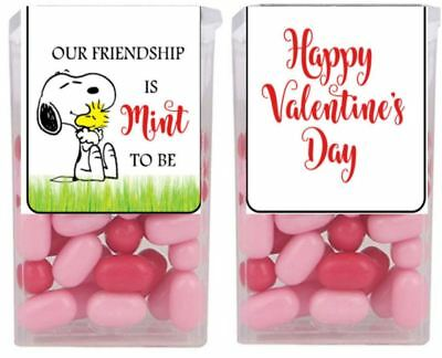 Snoopy Woodstock Valentine's Day Party Favor Tic Tac Labels Stickers SET of - Snoopy Party Favors