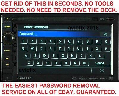PIONEER AVIC X850BT AVIC X950BH AVIC Z150BH PW Password