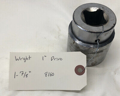 Wright Tool 8160 1 Dr 1-78 Socket 12 Pt. Free Shipping