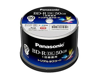 Genuine MID 50 Panasonic BD-R DL 50GB 4x Speed Inkjet Printable Bluray Discs