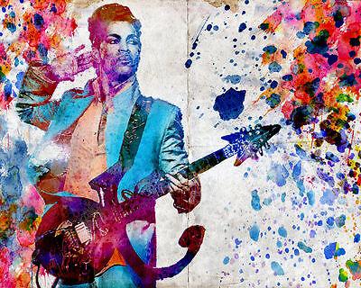 Prince Art Print, Pop Art Poster, Watercolor Artwork