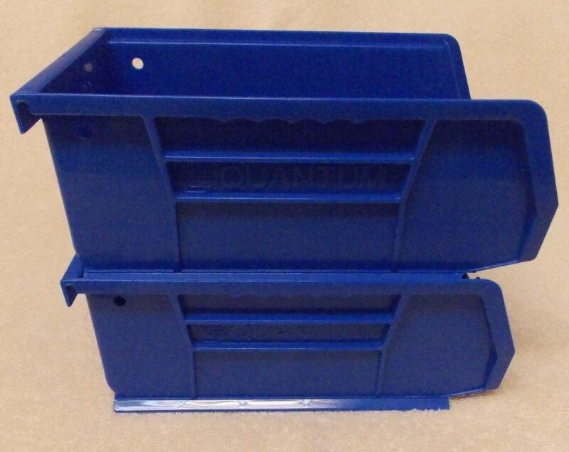 "2 Blue Stackable Bullet/Cartridge Bins(Dillon/Hornaday press)7-3/8""Lx4-1/8""Wx3""H"