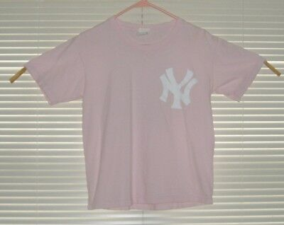 MLB NY Yankees Derek Jeter No. 2 Pink T-shirt size Ladies M?  2-sided Graphics for sale  Quakertown