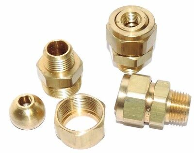 Lot Of 3 New Spraying Systems Co. 36275-12x38 Brass Fittings