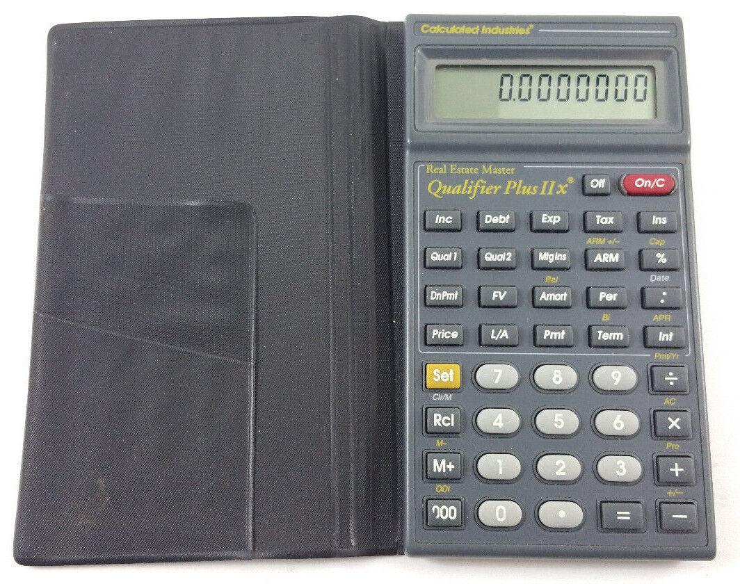 Qualifier Plus IIx 3125 Real Estate Finance Calculator Calculated Industries