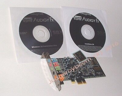 New! Low profile PCIe (express) Creative Sound Blaster AudigyFX ™
