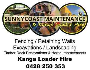 Sunnycoast Maintenance & Mini Loader Nambour Maroochydore Area Preview