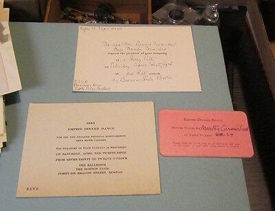 1953 Bryn Mawr College Empire Dinner Dance Program Ticket Party Invitation Lot