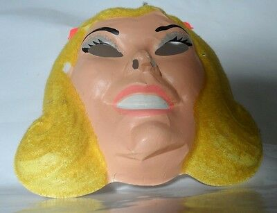 Ben Cooper Vintage Halloween Blond Princess mask