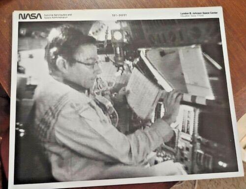 NASA Black & White Cockpit Photo Astronaut John W. Young In Orbit Free Shipping