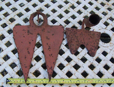 Vintage hoe weeder heads no handles possibly French vineyard tools used