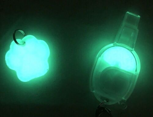 UV Paqlite MSL Micro Safety Key Chain Light & Reusable Rechargeable Glow Pet Tag