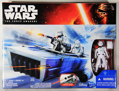 L002032 Star Wars 2015 Force Awakens / Snowtrooper With First Order snowspeeder