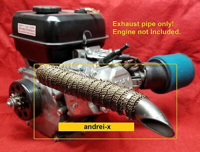 Mini Bike custom Exhaust Header Pipe for Predator 212cc, Honda GX160, GX200