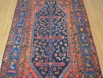 3'8x6'1 Amazing 1930s Genuine Antique Persian Tribal Hand Knotted Wool Area Rug