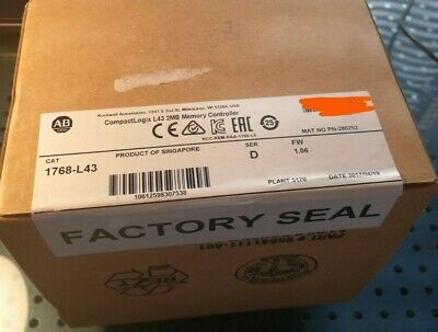 2017 Factory Sealed Allen Bradley 1768-l43 D Series D Compactlogix Processor