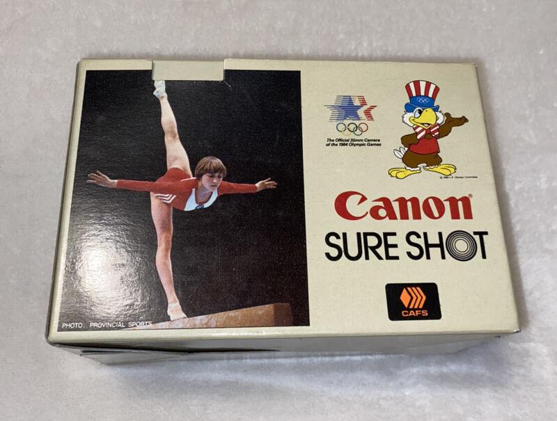 1984 Canon Sure Shot AF35M II 35mm Film Camera 38mm f2.8 Lens Box