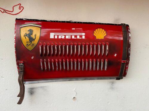 Grand Prix race car wall art panel Ferrari vintage replica Handmade Metal Sign