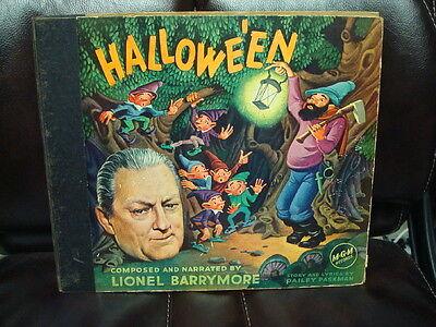 1940'S HALLOWE'EN HALLOWEEN RECORD SET LIONEL BARRYMORE MGM 10A