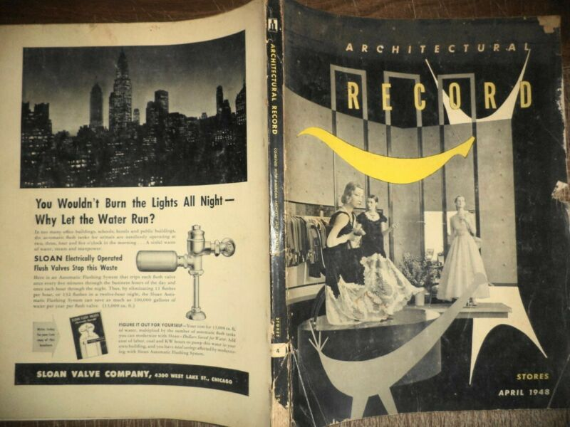 VINTAGE APRIL 1948 ARCHITECTURAL RECORD STORES BUILDINGS MODERN DESIGNS HISTORY