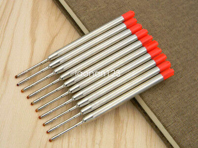 10PC JINHAO Red Refill fit for Parker Style Ballpoint Pen Refills