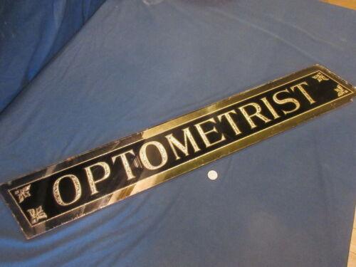 Very Rare Victorian Optometrist Glass Sign w/ Gold Leaf 1890-1910