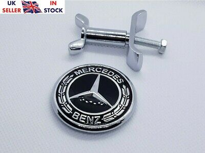 Brabus Mercedes Benz Bonnet Badge Hood Emblem Sticker C S E Class 44mm w204 W211