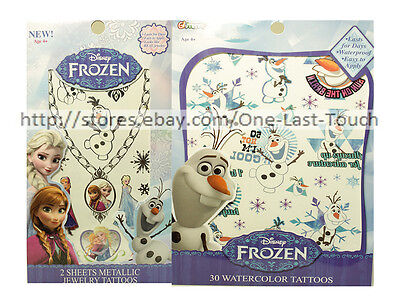Frozen Tattoo (DISNEY FROZEN Temporary Art BODY TATTOOS Glimmer Cosmetics KIDS *YOU)