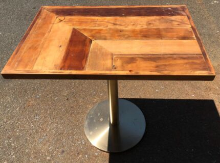 Cafe tables and custom timber table tops timber dining