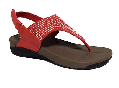 TS shoes TAKING SHAPE sz 10 / 41 Michelle Sandal low wedge stud detail comfy NIB
