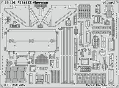 Eduard Accessories 36301 - 1:35 M4A3E8 Sherman For Tamiya - Ätzsatz - Neu