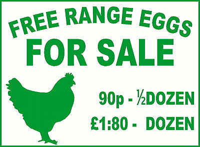 EGGS FOR SALE * CUSTOM MADE SIGN * 2 SIZES * 4 COLOURS*