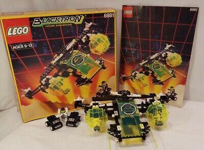 Vintage Lego Space Blacktron II #6981-1 Aerial Intruder:100% Comp/Orig Box/Inst