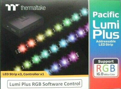Thermaltake - Pacific Lumi Plus LED Strip 3-Pack NEW OPEN BOX
