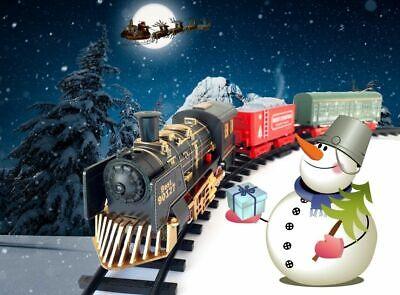 Tren Pequeño Eléctrico Navideño Luces Y Sonidos Adornos Navidad