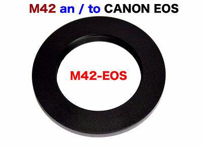M42 - EOS  M42 Objektiv Lens Adapter an -To Canon EOS Kamera EF Mount