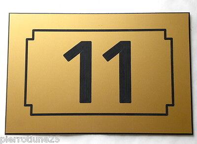 Plaque gravée numéro porte chambre appartement gite hotel 75 x 50 mm n° 1 à 999