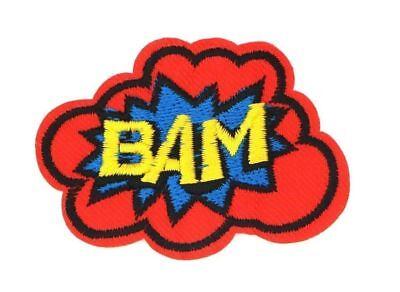 Bam Bam Cartoon (COMIC CARTOON ACTION CAPTION BAM! PATCH, COMIC BAM PATCH, 2.5