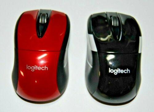 Logitech M525 Power Plus Wireless Mouse w/ Scroll Wheel PC & Mac Black/Red