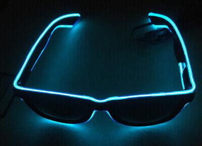 Flashing Light-Up Blue Sunglasses, Battery Operated