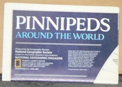 Vintage 1987 National Geographic Insert Pinnipeds Around the World