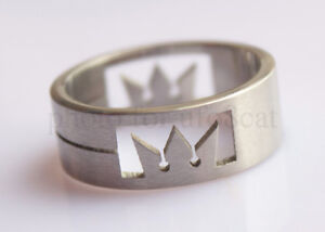 Kingdom Hearts Sora Crown Stainless Steel Ring Cosplay Anime Japan Disney Style