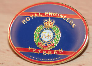 ROYAL ENGINEERS VETERAN Army Military Pin Badge