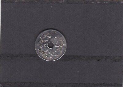 BELGIE/BELGIQUE LEOPOLD II 25 CENT 1908 VL