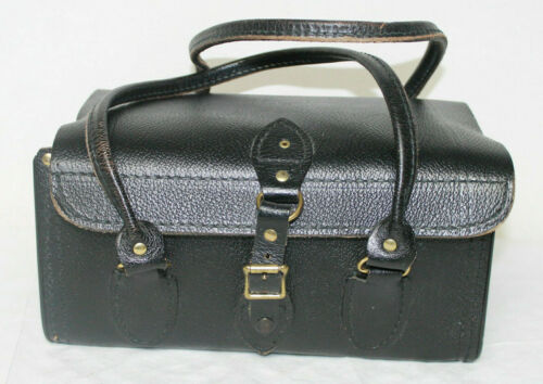 Vintage Cowhide Leather Medical Bag Camera Bag  By CH Ellis