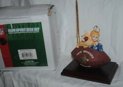 New Orleans Saints Christmas Team Spirit Desk Set, angel, clock, football MIB
