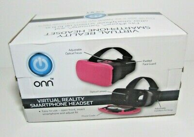"""Onn Virtual Reality Smartphone Headset iPhone Smartphone and screens up to 6"""""""