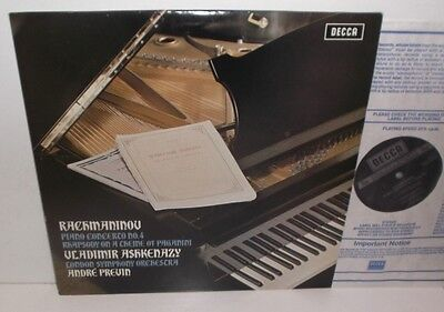 SXL 6556 Rachmaninov Piano Concerto No.4 Vladimir Ashkenazy LSOcond Andre Previn