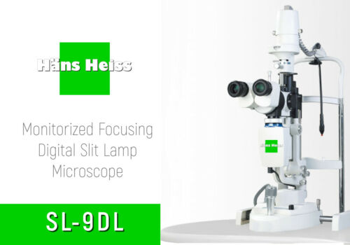 Slit Lamp HANS HEISS SL9DL Led (X5) Mag W/Video Systems NEW