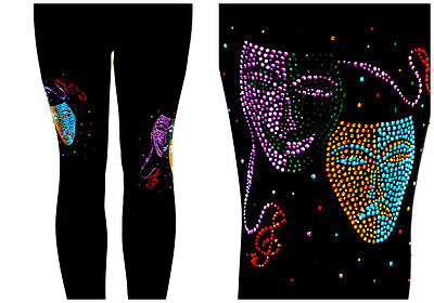 ellished Masquerade Music Mardi Gras Jester Masks   (Jester Leggings)